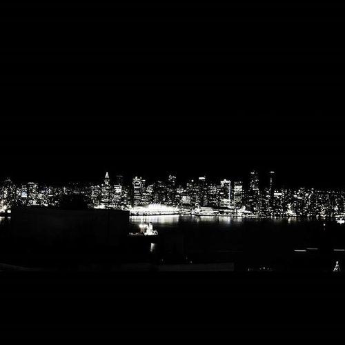 Bw Blackandwhite Blackandwhitephotography Vancouver Vancouver Downtown Decemberber Evening Northshore Northvancouver Vancitybuzz Vancouverofficial Citylights Instavancouver Canadaplace Nikon