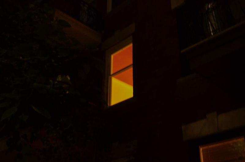 Illuminated City Neon Architecture Building Exterior
