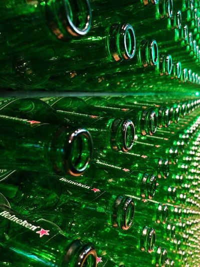 #heineken #beer Full Frame Backgrounds No People Close-up Indoors  Pattern Alcohol Number Abstract Illuminated Arts Culture And Entertainment
