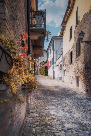 Outdoors No People Italy Piedmont Italy Light And Shadow Colors Of Autumn Outdoor Photography EyeEm Best Shots EyeEmNewHere EyeEm Nature Lover EyeEm Selects Vscocam Nikon Nikonphotography Nikonphotographer Hills And Valleys Bestoftheday Building Exterior Built Structure Architecture Building City Residential District Street Plant House Direction The Way Forward Footpath Wall Narrow Town Wall - Building Feature Alley Cobblestone Stone Wall