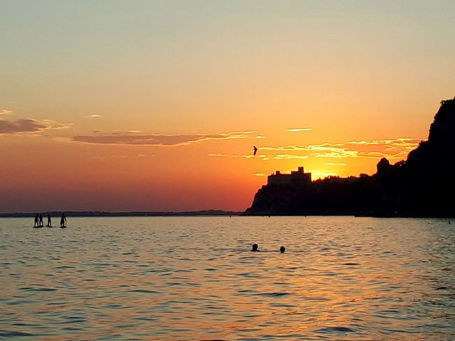 Sunset Silhouette Sun Sky Scenics Landscape Nature Sea Water Tranquility Travel Destinations Beauty In Nature Reflection Outdoors Idyllic Vacations Dusk Tranquil Scene Tourism Horizon Over Water Duino Castle Summer Dramatic Sky Beach Sunset_collection