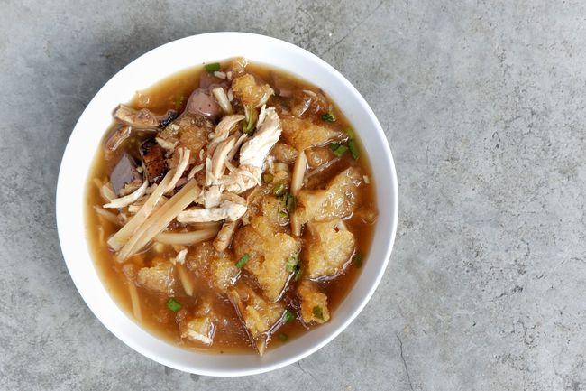 Fish maw soup top view Cuisine Dish Lunch Delicius Retaurant Tasty Bowl Directly Above High Angle View Smoothie Close-up Food And Drink Soup Noodle Soup