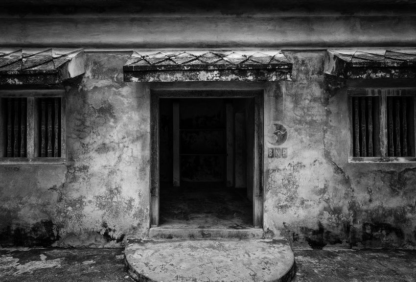 Old Building Architecture Black And White Street Photography Still Life