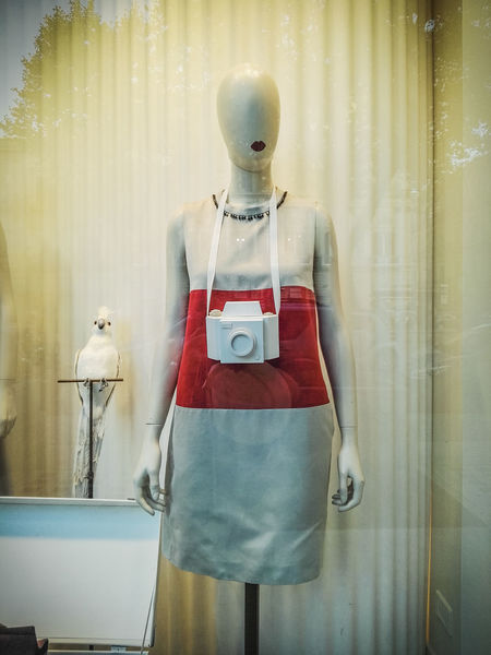 Camera Dress Dummy Dummy Photos Misterious No Face No People White Window Shopping