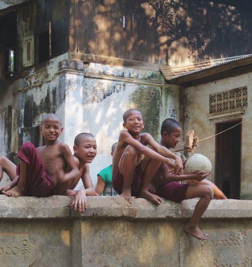 Myanmar Yangon Kids Monk  The Traveler - 2015 EyeEm Awards Traveling Eye4photography  Travel Photography EyeEm Gallery