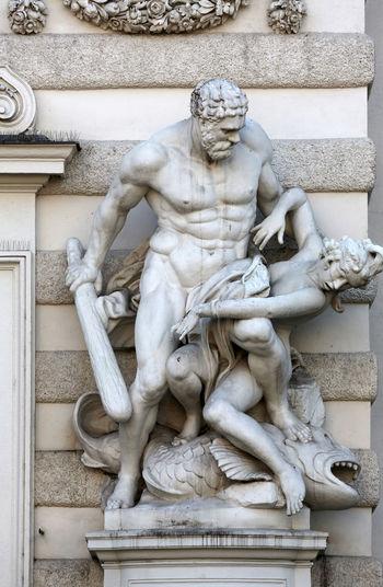 Hercules Statue At Hofburg Palace