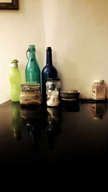 Bottle Table Alcohol Indoors  Drink Food And Drink No People