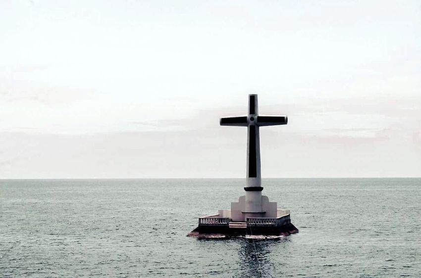 Sunken Camiguin Island Philippines Nikon Cross Faith Spirituality God Religion Catholic Believer Past Water Sea Eruption Landmark Ruins