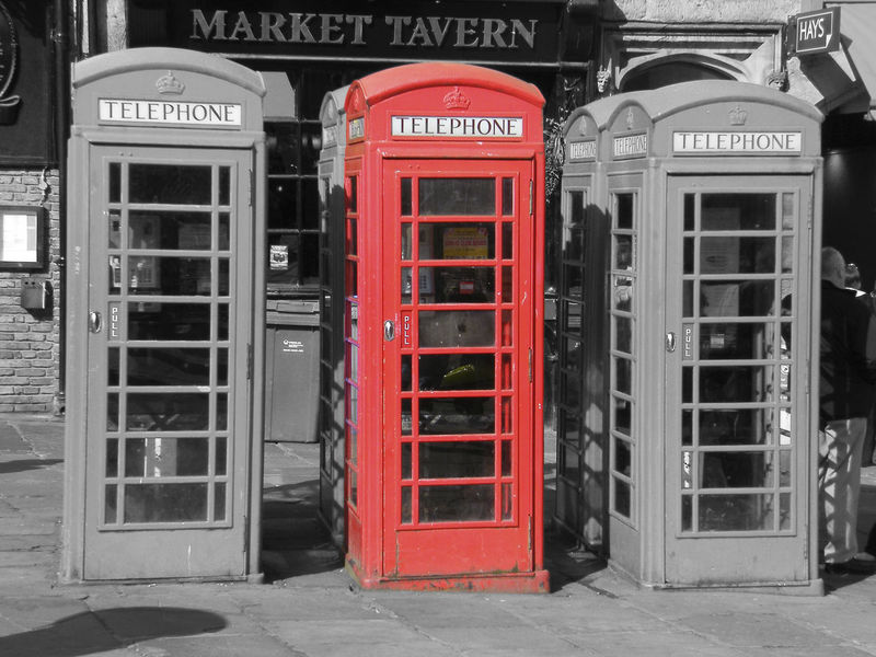 Red telephone box in Durham UK Durham City England, UK English Telephone Box English Red Telephone Box Close-up Colour Pop Communication Day No People Old-fashioned Outdoors Pay Phone Red Red Telephone Box Selective Color Telephone Telephone Booth Text