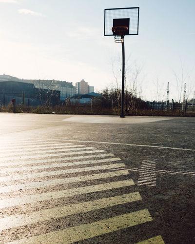 Scenic view of basketball hoop against sky