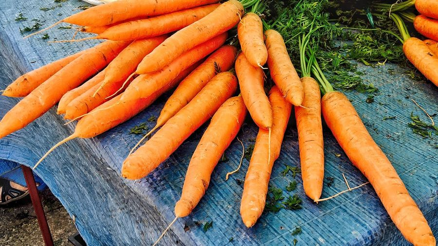 Close-Up Of Orange Carrots