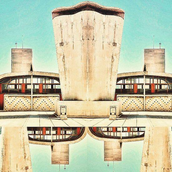 Le Corbusier reflections Cité Radieuse Nikonfr Nikonfrance Marseille Igersmarseille Massilia Prado Corbusier Art City Marseillerebelle Art Montage Mirror Igersfrance Igerspaca
