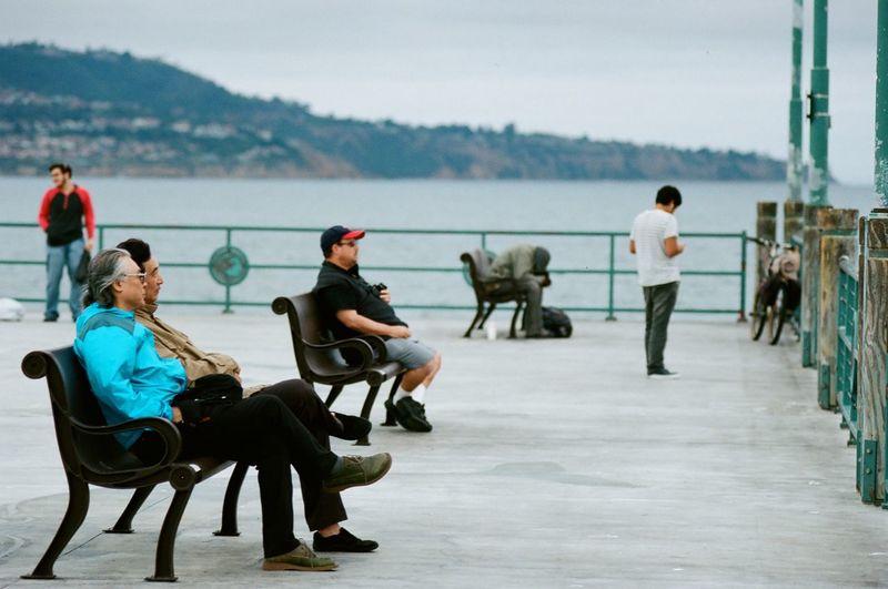 Waiting for Gadot Views From The Sidewalk Kodak Portra Nikon F3 Filmisnotdead People Watching People Photography Film Photography Street Photography Streetphotography Film Camera