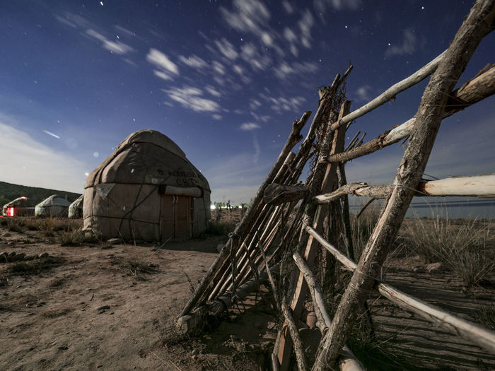 A night at a yurt of the nomadic Kyrgyz people EyeEm Best Shots EyeEmNewHere Kyrgyzstan NOMAD Nightphotography Olympus Architecture Building Exterior Built Structure Issykkul Landscape Nature Night No People Nomadic Outdoors Scenics - Nature Wood Wood - Material Yurt The Great Outdoors - 2018 EyeEm Awards The Traveler - 2018 EyeEm Awards