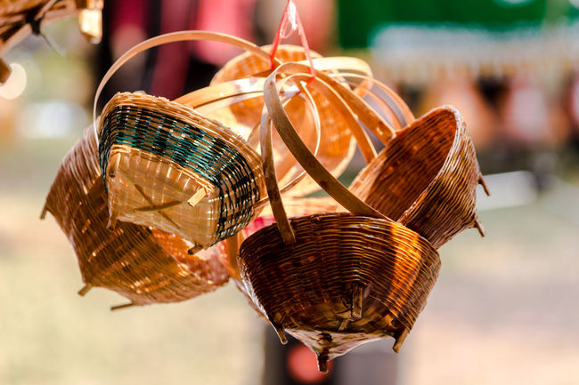 Basket Close-up Day Focus On Foreground Gold Colored Handicraft Handicraft Work No People Outdoors Retail  Weaving