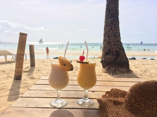 EyeEm Selects Beach Sand Sea Water Sky Nature Vacations Summer Drink Sunlight Boracay Daily Life