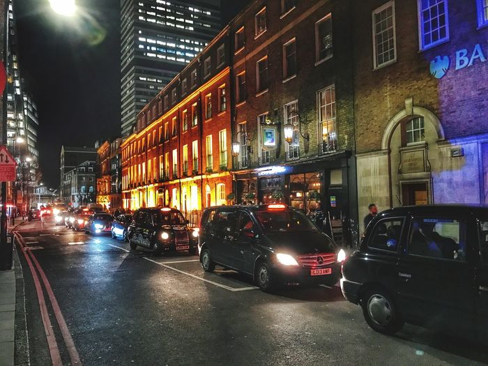 Illuminated Transportation Architecture City Building Exterior Built Structure Night Street Car Land Vehicle Road Mode Of Transport No People Outdoors