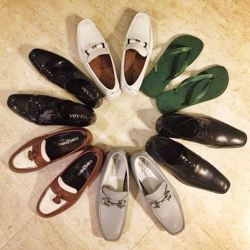 Lovely new shoes from this summer (plus one special pair from Moyu). Mensshoes Prada Ferragamo Twotone  gatsby slippers havaianas thegoodlife