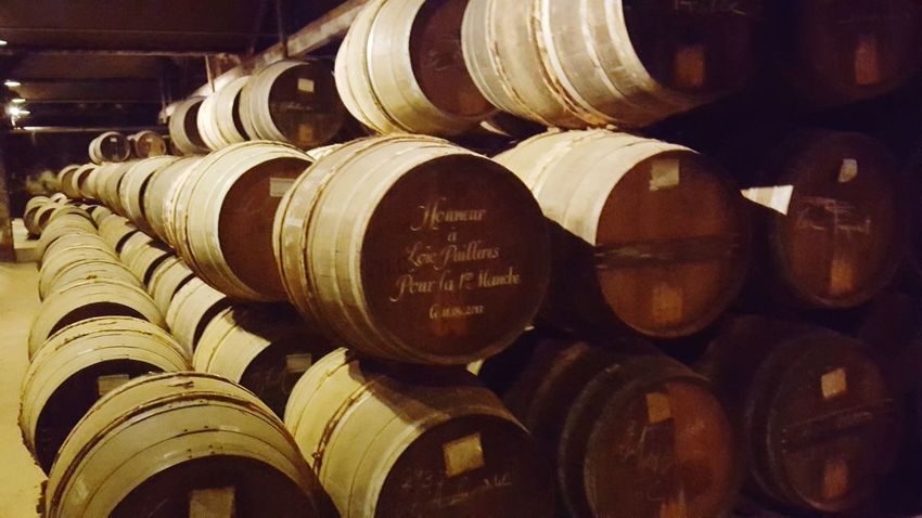 Stack Indoors  Abundance Large Group Of Objects Wine Cellar Cellar Shelf No People Food And Drink Industry Wine Winery Arrangement Wine Cask Winemaking Barrel Day Close-up Barrels Of Cognac Ville De Cognac Barrels Cognac Region Cognac Travel Destinations