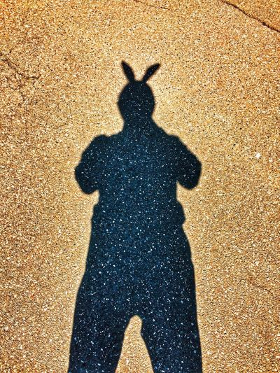 """Hoppy"" Easter ✨🐣🐰😉 Tadaa Community Shadow Sunlight Nature One Person High Angle View Real People Lifestyles Standing Silhouette Focus On Shadow Day"