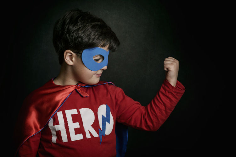 Childhood Child Superhero Mask Innocence Costumes Disguise Carnival Fun Superheroes Party Happiness Power Fantasy Leader Leadership Victory Halloween Fight Rival Smile Lifestyle People Superman