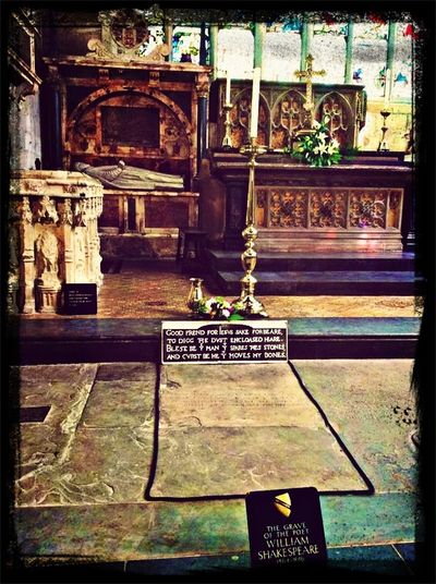 The resting place of the poet, Shakespeare.