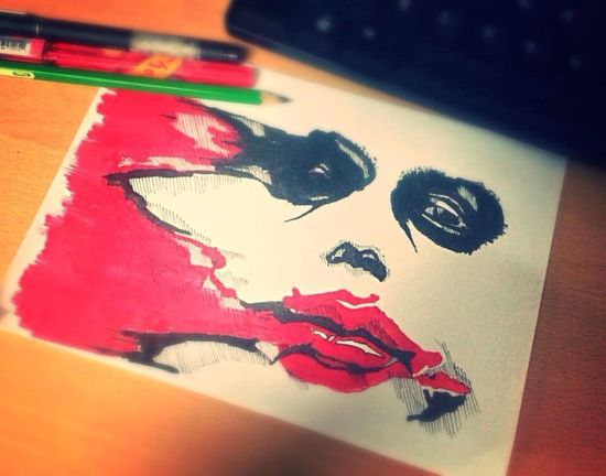 I draw when I have nothing to do here in the office. Slow day. Drawing The Joker