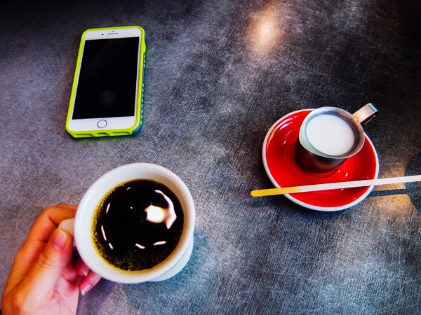 Coffee time Coffee Break Coffee Cup Cafe Cafe Time Lifestyle Food And Drink Drink Cup Refreshment Mug Coffee Wireless Technology Table Coffee Cup Directly Above Technology Communication Coffee - Drink Mobile Phone Connection High Angle View