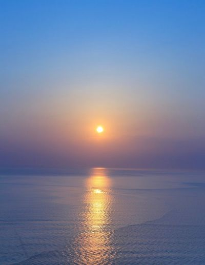 Beautiful sunset Sky Water Sunset Beauty In Nature Sea Tranquility Scenics - Nature Sun Horizon Over Water Nature No People Orange Color Horizon