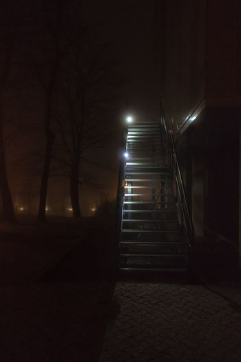 Steps And Staircases Staircase Steps Night The Way Forward Illuminated No People Indoors  Architecture Be. Ready.
