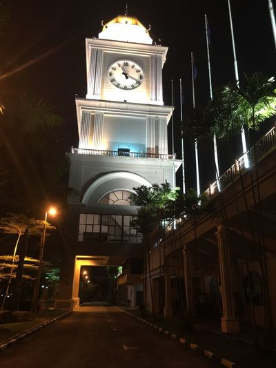 Johor Illuminated Night Architecture Built Structure Building Exterior Religion No People Place Of Worship Architectural Column History Low Angle View Outdoors Sky