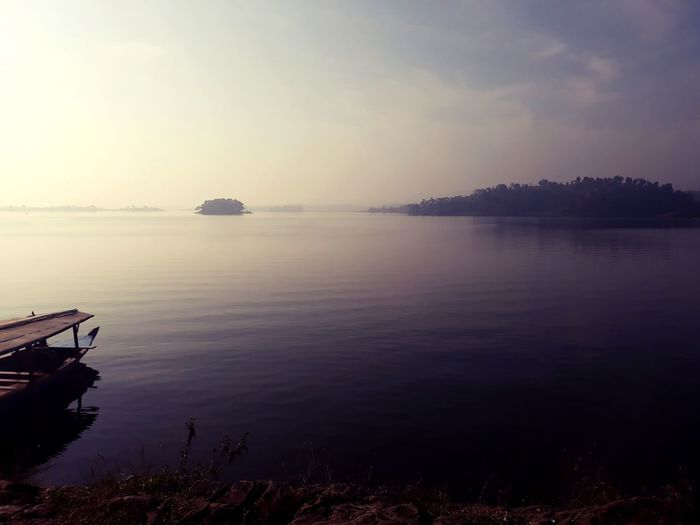 cacaban reservoir Reservoir Sunset Water Calm Peaceful Quiet Place  Calmdown Tegal INDONESIA Central Java Reflection Wonderful Tranquil Scene Tranquility Horizon Over Water Idyllic First Eyeem Photo