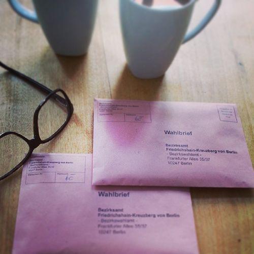 Wir haben gewählt Demokratie Briefwahl Btw13