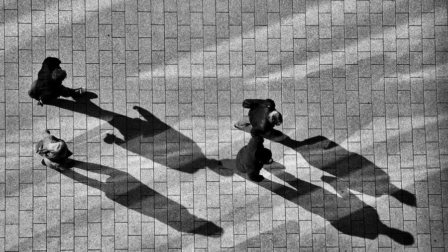 Shadows are following you Adult Adults Only Black & White Blackandwhite Blackandwhite Photography City Life Day Exceptional Photographs EyeEm Best Edits EyeEm Best Shots EyeEm Gallery EyeEmBestPics Full Length Light And Shadow Men Monochrome Monochrome_Photography Only Men Outdoors People Real People Shadow Sunlight Taking Photos Welcome To Black Fresh On Market 2017