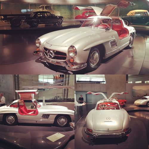 Mercedes Benz Museum Gullwing 300sl Car Oldtimer