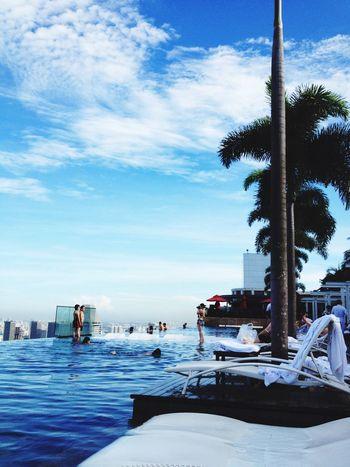 Singapore Marinabaysands Swimming Pool Infinity Pool