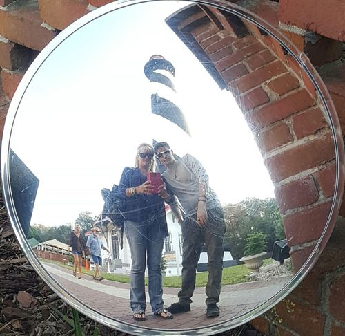 Togetherness Outdoors St Augustine, FL Lighthouse Bucketlist Mother And Son Reflections Circle Image Circleoflife Adventure Old History Travelshots Bucket List Historic Historical Historical Place USA