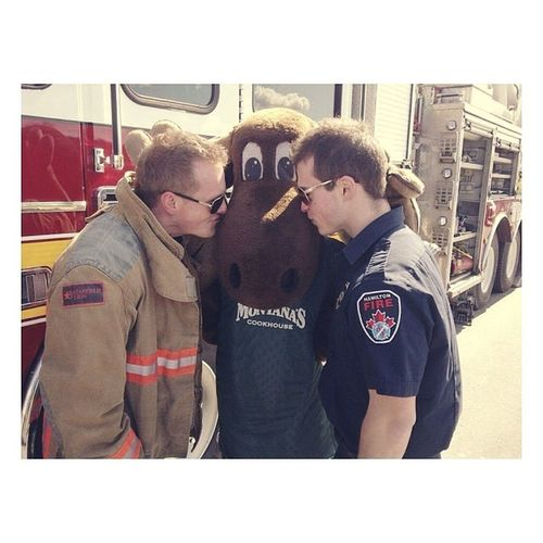 That time the fire fighters fell in love with the moose. Bestof2013
