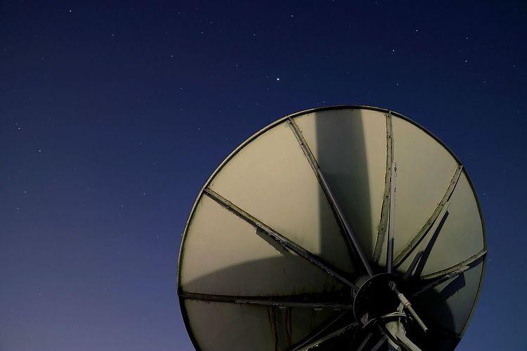 Satellite Dish At Dusk