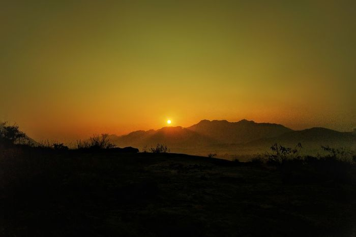 Sunset Silhouette Nature Scenics Landscape No People Beauty In Nature Outdoors Mountain Tree Day Sky