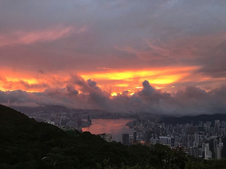 Sunset Victoria Peak, Hongkong Firesky Nature And City Cityscape Outdoors Mountain EyeEmNewHere EyeEmNewHere