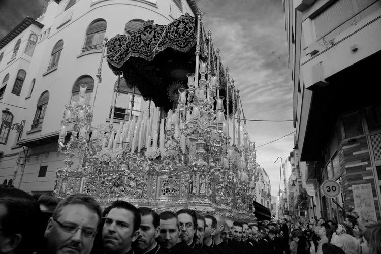 Burden of the Soul. Andalucía Building Exterior Built Structure City Crowd Easter, Group Of People Holy Week Large Group Of People Leisure Activity Lifestyles Malaga Men Night Outdoors People Procession Real People Religious Festival Roman Catholic, Semana Santa Women Art Is Everywhere Place Of Heart The Street Photographer - 2017 EyeEm Awards EyeEmNewHere