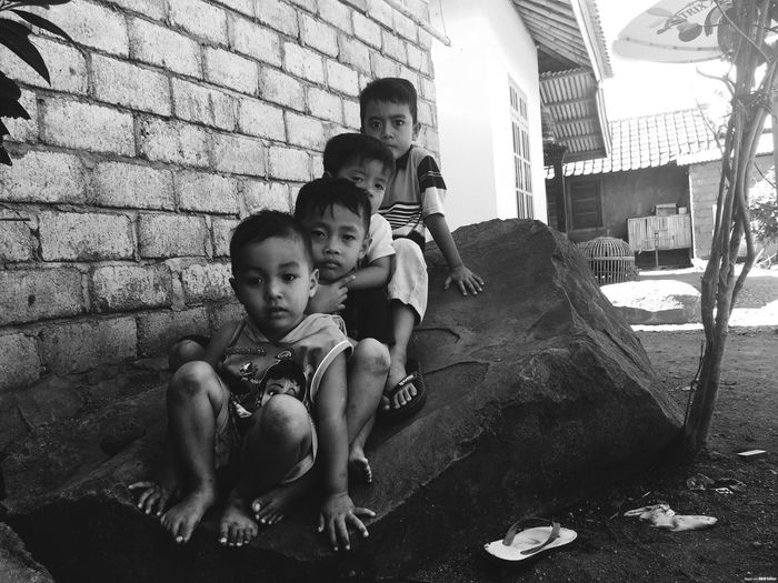 The boy Childhood Outdoors Boys Looking At Camera Iphonephotography Blackandwhite Photography Blackandwhite