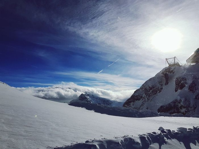 Alpen Schwitzerland Titlis,Switzerland Cloud - Sky Outdoors Sky Nature Day No People Beauty In Nature Astronomy Shades Of Winter