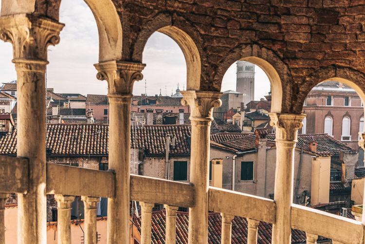 View from historical building scala contarini del bovolo, venice