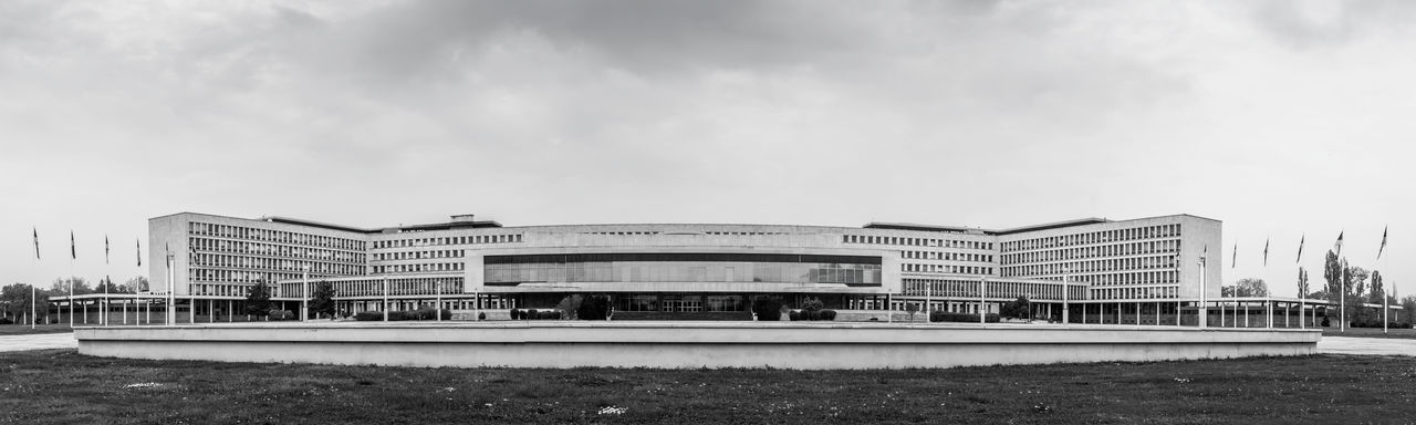 Panoramic View Of Building Against Sky