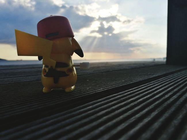 Paint The Town Yellow Sky Pikachu Sunset