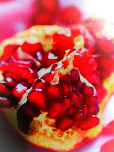 Pomegranate ❤ Freshness Bright And Happy One Of My Favourite Fruits Deep Red Color Close-up Indoors  No People Freshness