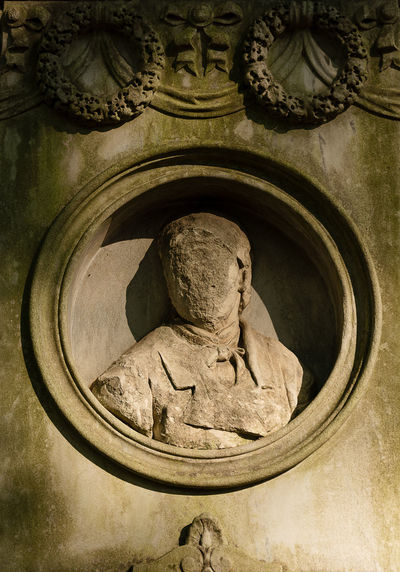 Grave Poland Powązki Powązki Cemetery Warsaw Art And Craft Craft Creativity History Human Representation Monument No People Sculpture Solid Spirituality The Past