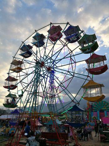#chiangmai Thailand Amusement Park Arts Culture And Entertainment Ferris Wheel Amusement Park Ride Traveling Carnival Sky Outdoors No People Day